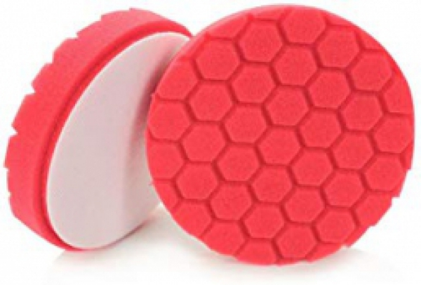 Chemical Guys BUFX_107_HEX6 Hex-Logic Ultra Light Finishing Pad, Red (6 Inch)